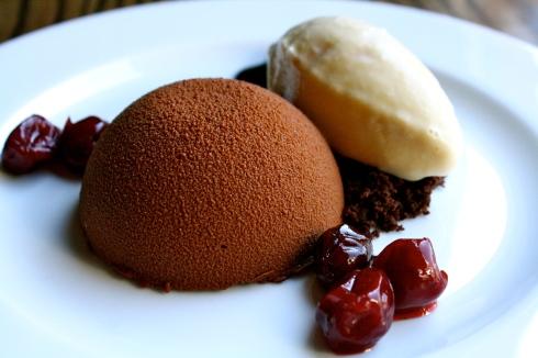 Chocolate Bombe - Mast Brothers 73% Chocolate, Cherries, Bourbon Caramel Ice Cream